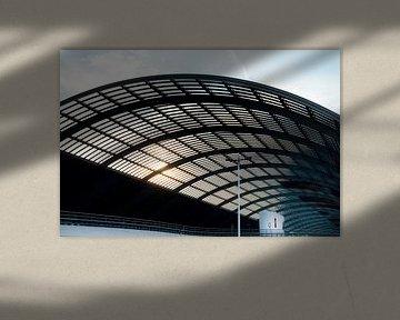Architectuur - Amsterdam overkapping busterminal bij centraal station van Marianne van der Zee