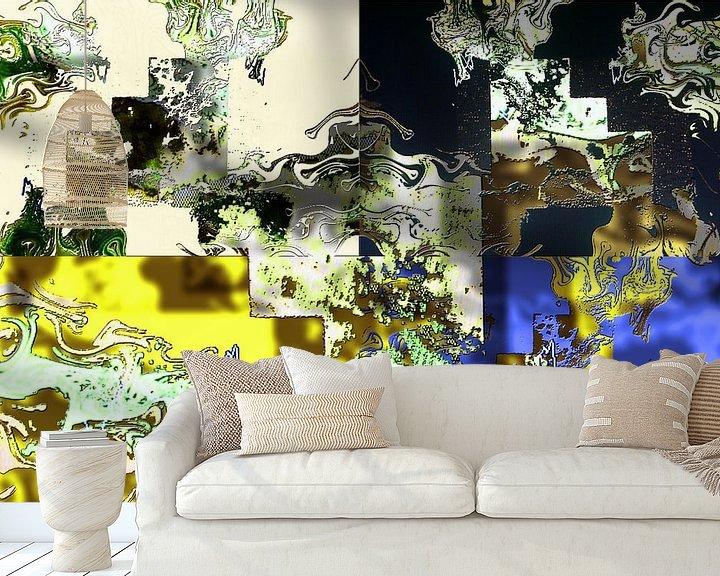 Beispiel fototapete: Abstrakte digitale Arbeit von Ton Kuijpers