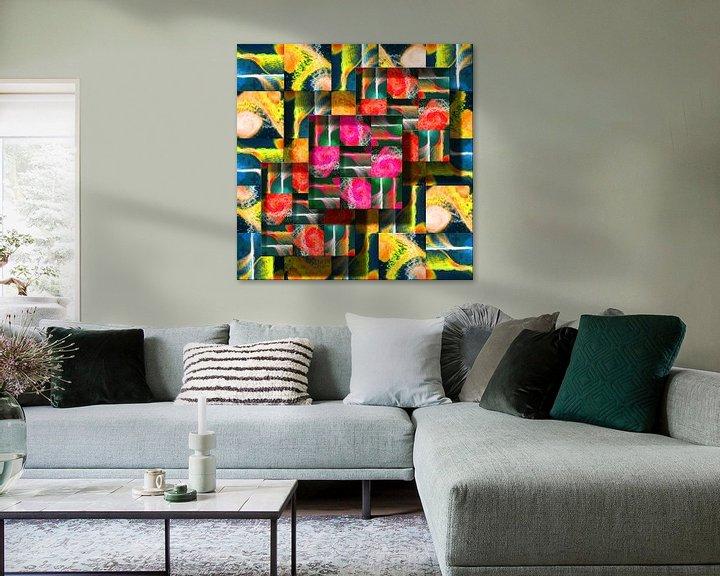 Beispiel: Abstrakte digitale Arbeit von Ton Kuijpers
