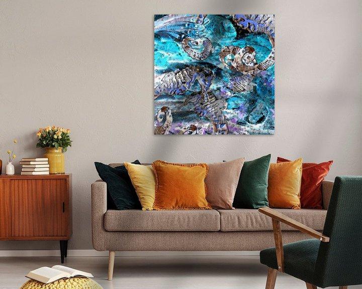 Beispiel: Digitale Arbeit mit Seepferdchen von Ton Kuijpers