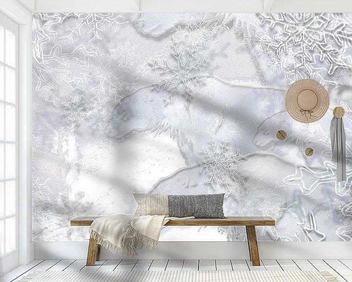 Beispiel fototapete: Digitale Arbeit mit Eisbären von Ton Kuijpers