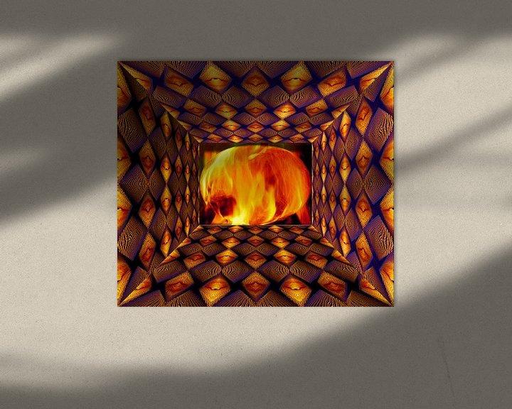 Impression: Œuvre numérique abstraite sur Ton Kuijpers