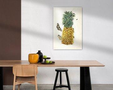 Prent van een ananas
