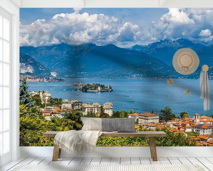 Sfeerimpressie behang: Lago Maggiore en Stresa van Jaap Terpstra