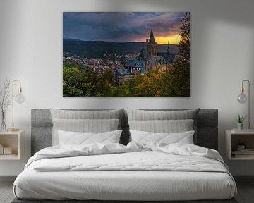 Kasteel van Wernigerode,  Saksen-Anhalt, Duitsland van Henk Meijer Photography