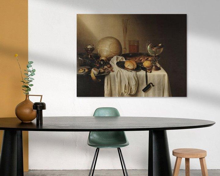 Beispiel: Bankett mit bärtigem Steingutglas, Maerten Boelema de Stomme