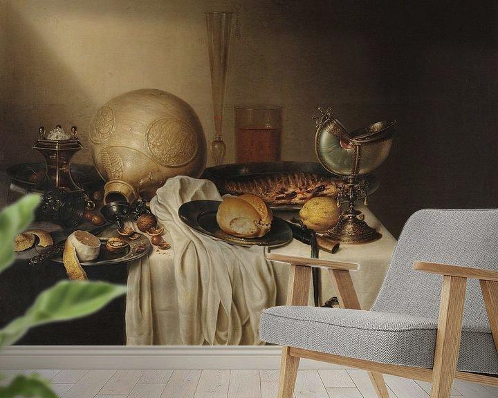 Beispiel fototapete: Bankett mit bärtigem Steingutglas, Maerten Boelema de Stomme