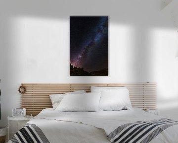 La Voie Lactée à Ténérife sur Yvette Baur