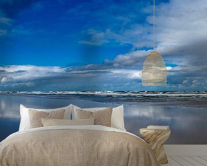 Beispiel fototapete: Blick auf den Strand bei Flut. von Marcel Pietersen