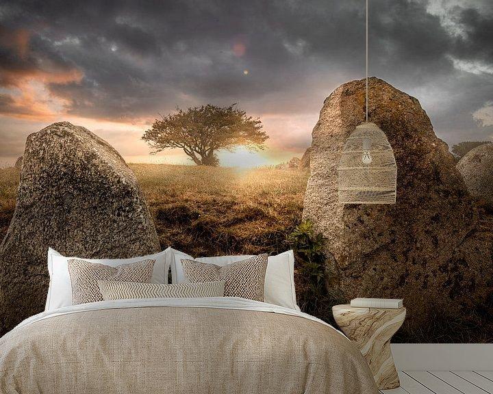 "Sfeerimpressie behang: Groot stenen graf ""Reuzenberg""Nobbin"" Grote stenen graf"" Nobbin van Sergej Nickel"