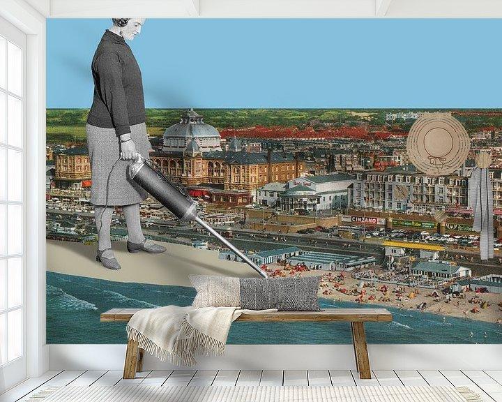 Sfeerimpressie behang: 'De vakantie is voorbij' van toon joosen