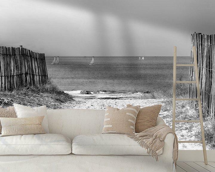 Beispiel fototapete: Die Straße zum Strand von Mark Bolijn