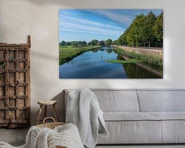 Mooi uitzicht vanuit Den Bosch over de groene weilanden van Bosche Broek