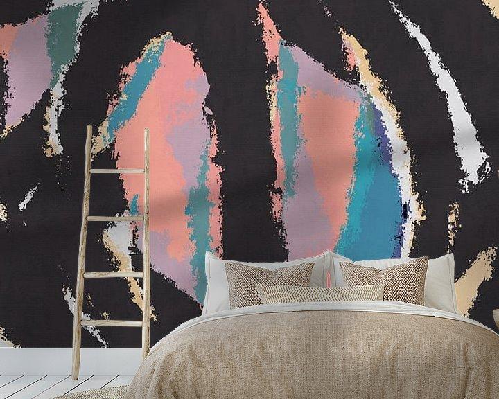 Sfeerimpressie behang: De pluis van dcosmos art