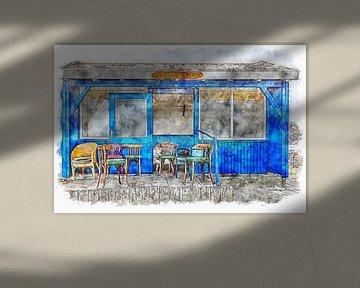"""Talk Shop """" it's mae nae wie t zeit"""" in Bruinisse (Zeeland) von Art by Jeronimo"""