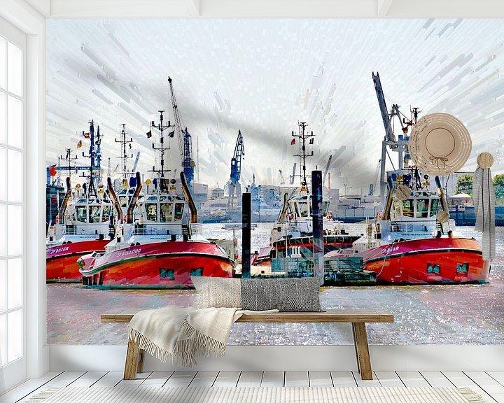 Beispiel fototapete: Hafenschlepper von Leopold Brix