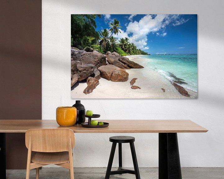 Beispiel: Tropischer Strand auf den Seychellen von Krijn van der Giessen