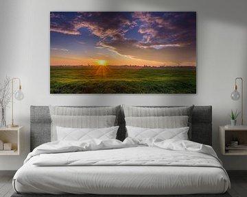 Goodmorning sunshine panorama van Patrick Herzberg