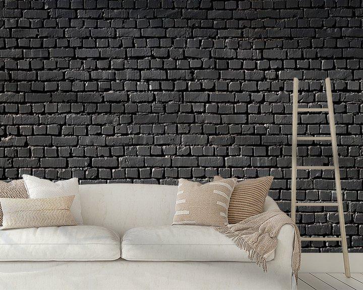 Sfeerimpressie behang: Zwart van Günter Albers
