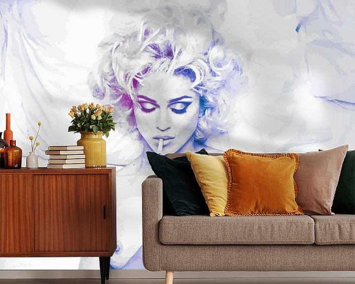 Beispiel fototapete: Im Bett mit Madonna abstrakt von Art By Dominic