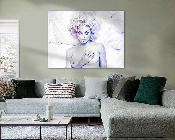 Beispiel: Im Bett mit Madonna abstrakt von Art By Dominic