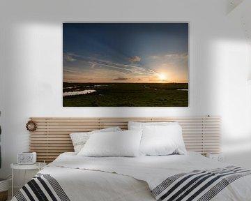 Zonsondergang in de Oostvaardersplassen van Jurgen Corts