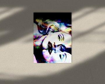 Madonna Truth or Dare Abstraktion farbig von Art By Dominic