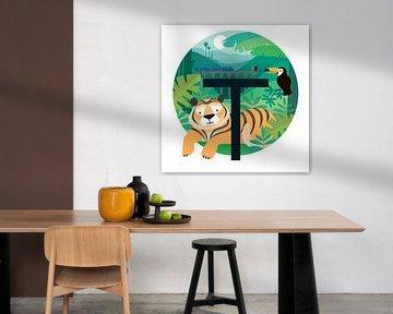 T: Tiger in den Tropen von Hannahland .