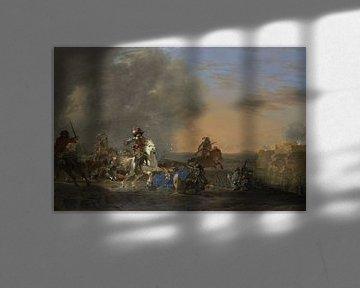 Kavallerieangriff bei Sonnenuntergang, Jan Asselijn