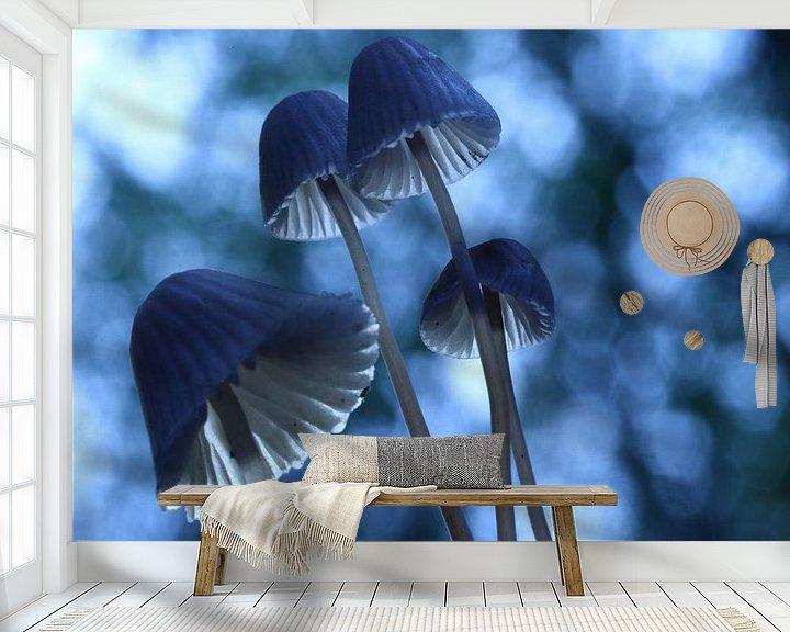 Sfeerimpressie behang: Paddenstoelen van Erik Veltink