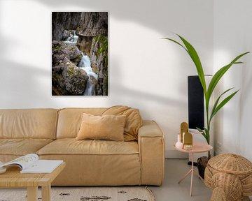 Watervallen Höllentalklamm in Grainau van Sjors Gijsbers
