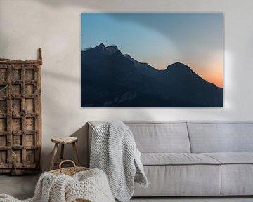 Zonsondergang in Zwitserland van Isa V