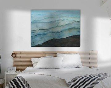 Montagnes bleues sur Ineke de Rijk