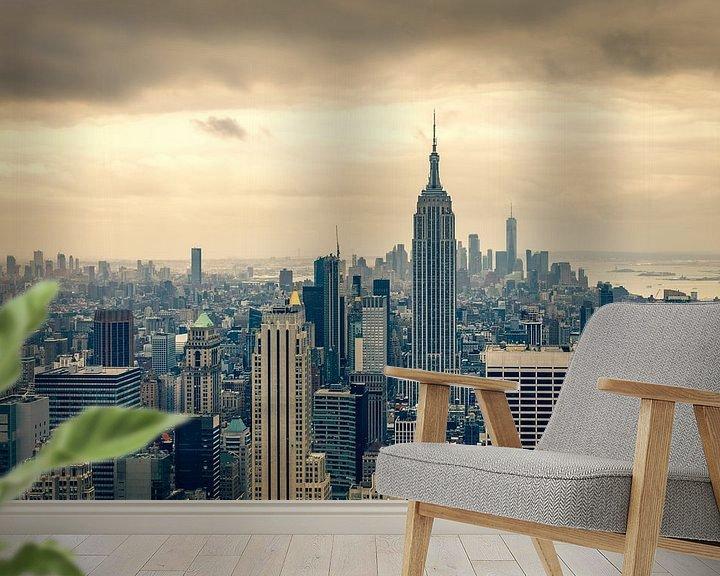 Beispiel fototapete: Blick über die Innenstadt von Manhattan von John van den Heuvel