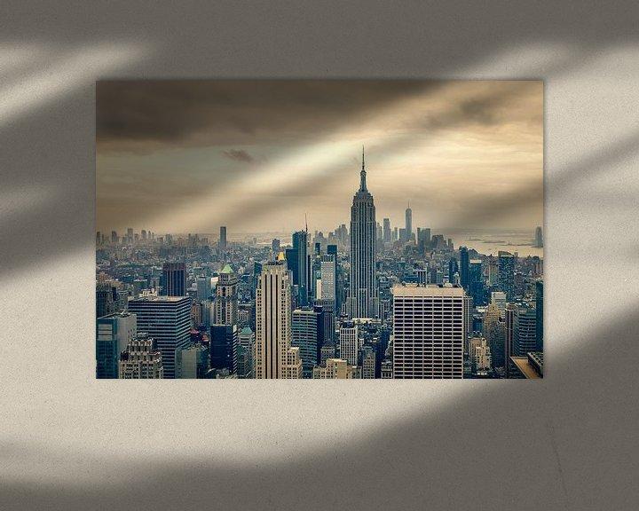 Beispiel: Blick über die Innenstadt von Manhattan von John van den Heuvel