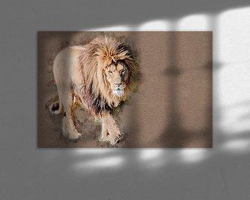 Der Löwenkönig (Kunst) von Art by Jeronimo