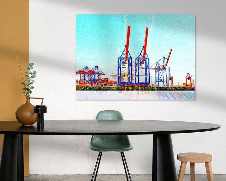 Beispiel: Terminal mit Containerkränen von Leopold Brix