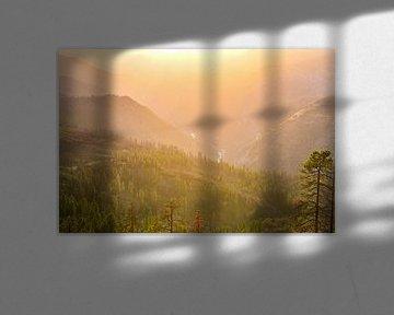Sequoia Park Pass bij zonsondergang van Robert Styppa