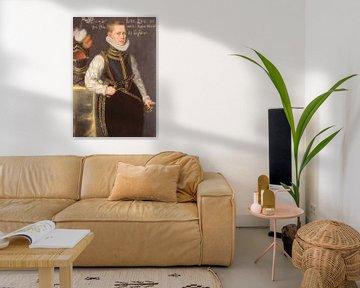 Porträt von Maurice Prinz von Orange, Daniël van den Queborn