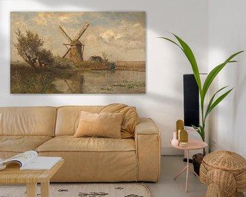 Windmühle auf einem Teich, Paul Joseph Constantin Gabriël