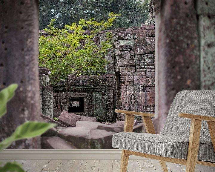 Sfeerimpressie behang: Tempels van Angkor van Yvs Doh