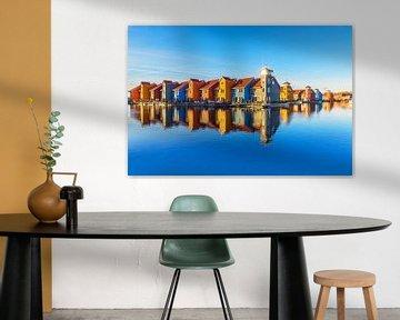 Reitdiephaven in Groningen van Annie Jakobs