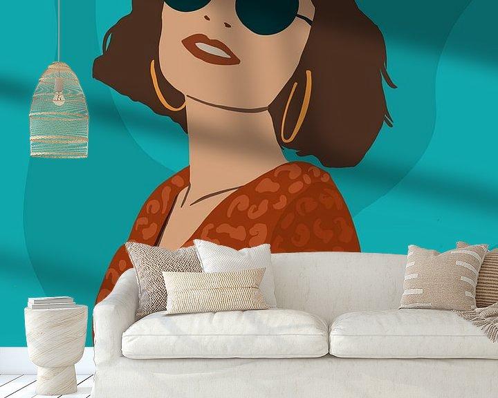 Sfeerimpressie behang: Watch me. van YOPIE illustraties