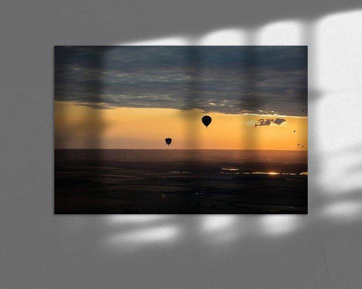 Sfeerimpressie: Hete Luchtballon bij avond van Cornelius Fontaine