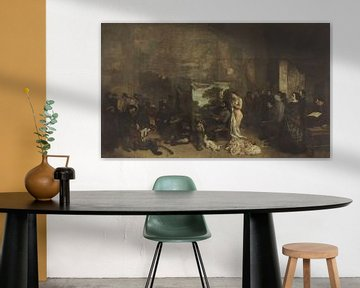 The Artist's Studio, eine echte Allegorie, die sieben Jahre meines künstlerischen und moralischen Le