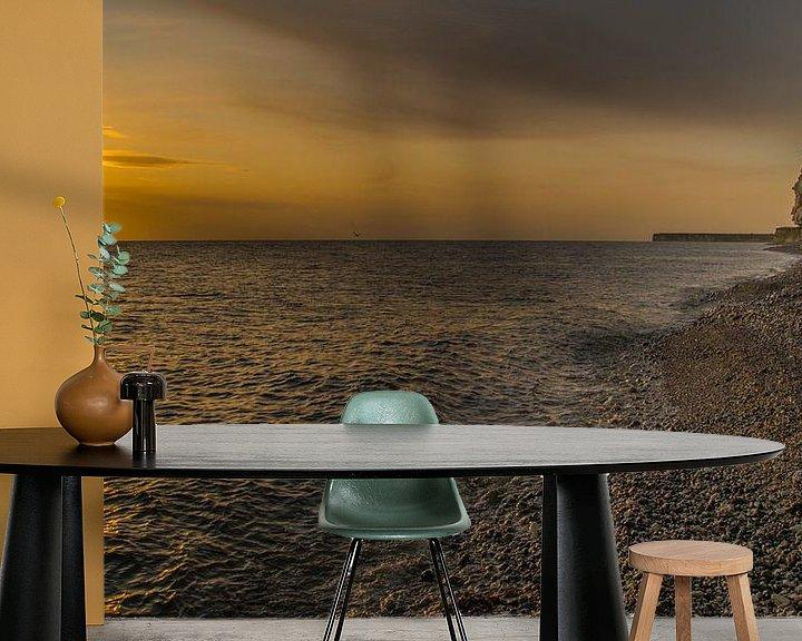 Impression: Sangstrup et Karlby Cliffs, Danemark sur Karen de Geus