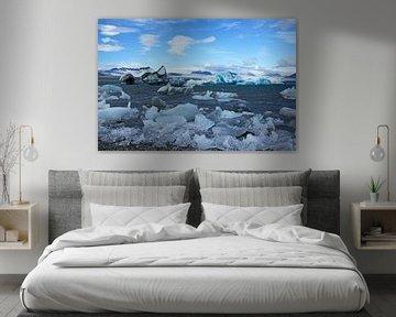 IJsland, IJsschotsen aan de rand van de gletsjer van Discover Dutch Nature