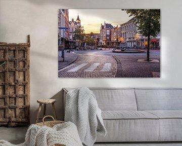 Van Coothplein Breda früh am Morgen von JPWFoto