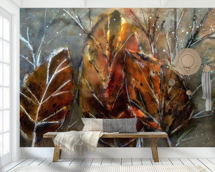 Beispiel fototapete: Abstrakter Herbst - Blätter von Christine Nöhmeier