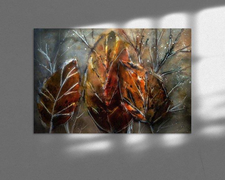 Beispiel: Abstrakter Herbst - Blätter von Christine Nöhmeier